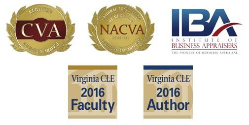 Business valuation certification logos